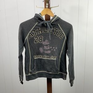 Disney Gray Mickey Mouse Athletic Graphic Hoodie